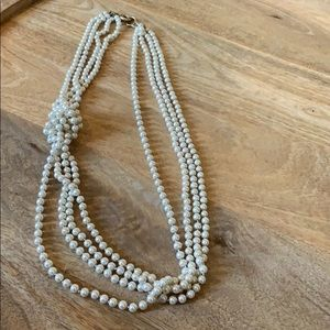 Pear like long strand classic necklace